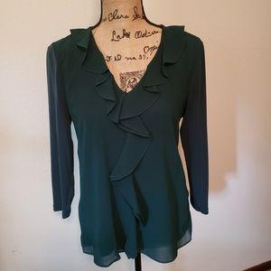 Green blouse by Calvin Klein